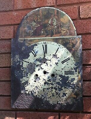 Antique Grandfather Clock Face