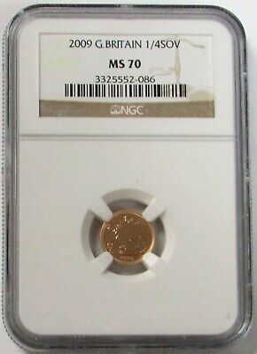 2009 Gold Great Britain 1/4 Sovereign Ngc Mint State 70