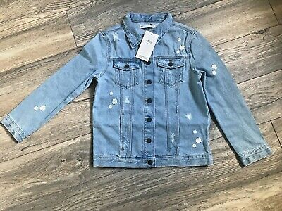 NEW M&S Girls Daisy Denim Jacket Aged 9-10 Years BNWT rrp £22