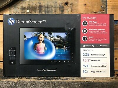 HP DreamScreen 100 10.2-inch Wireless Connected Screen Picture Frame Excellent