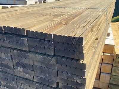 Heavy Duty Premium Treated Timber Decking Boards 38mm Thick x 150mm Wide Wooden