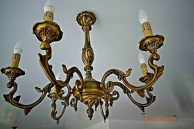 Beautiful Massive Antique  French Gilded Bronze  Chandelier