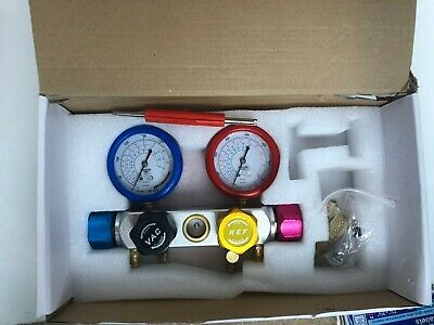 BACOENG Manifold Gauge Set - For Testing, Charging, Evacuating - FAST SHIPPING