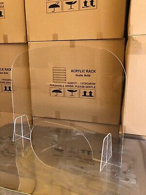"Sneeze Guard - Clear Acrylic - Table Desk Checkout Counter Shield 30""w x 23""h"