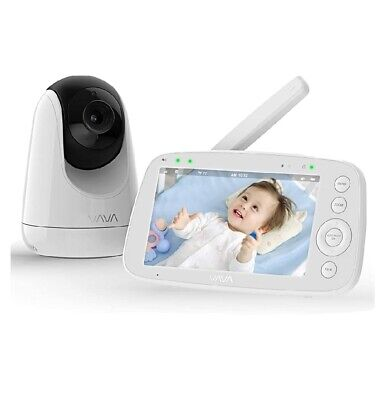 """VAVA Video Baby Monitor 5""""HD 720P, Camera With Audio, Two Way Audio,Night Vision"""