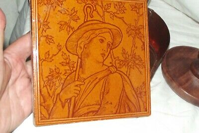 antique majolica intaglio moulded tiles - maw & co.