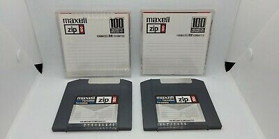 2 100MB Zip Drive Discs, untested, with jewel cases, Maxwell