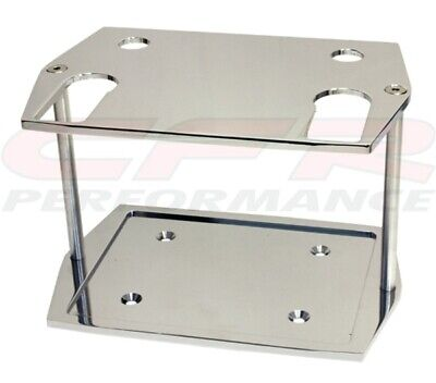 Smooth Chrome Billet Aluminum Optima Group 75/25 Battery Tray