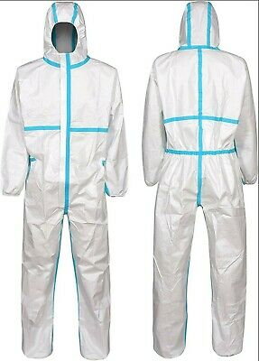 Coverall Isolation Gown Hooded Full Protection Suit