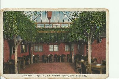 New York City Postcard Greenwich Village Inn Sheridan Sq Vintage early 1900s