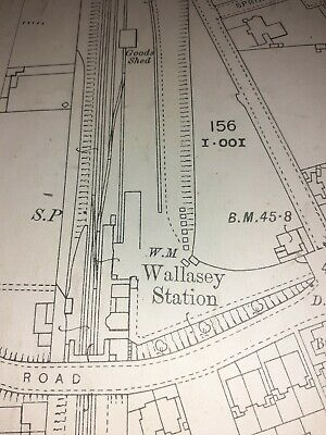 Old Antique Special Ordnance Map 1871 Cheshire VII.10.N.E Wirral Wallasey ...