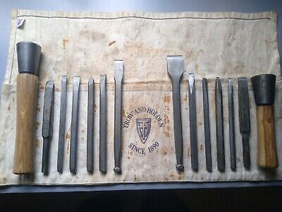 Rare Set Trow & Holden bushing tools, Milani carbide chisels, Bucknell