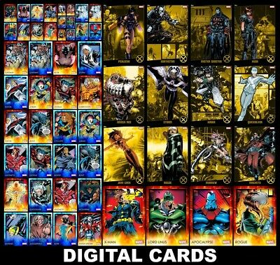 Topps Marvel Collect AGE OF APOCALYPSE [58 CARD BLUE/RED & YELLOW RETURN SETS]