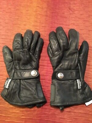 FirstGear Black Leather Motorcycle Gloves Thinsulate WARM Ladies Large