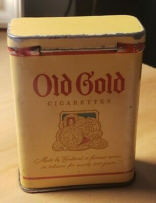 "Vtg Old Gold Cigarettes Tin Package  ""empty"""