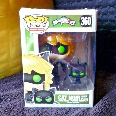 Funko Pop Animation Zag Heroes Miraculous Cat Noir with Plagg Figure
