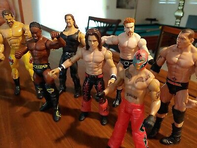 Mattel WWE, Wrestling Action Figures ( without packaging AEW TNA ECW WCW)(7)