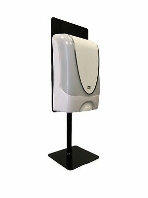 Universal hand soap automatic dispenser stand for desk, counter top, color black