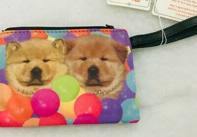 Chow Chow Microfiber Zippered Coin Purse