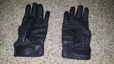 Motorcycle Womens Medium Leather Gloves White Flame embroidery soft leather