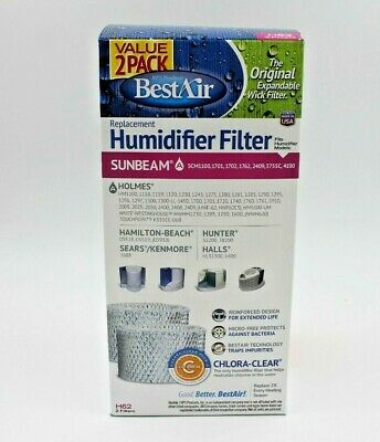 BESTAIR H62 REPLACEMENT Humidifier Filter With Chlora Clear