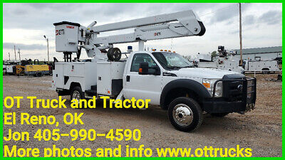 2015 Ford F-550 4wd 45ft Insulated Bucket Material Handler Crane Truck 6.8L Gas