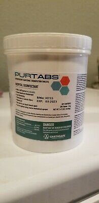 PURTABS Hospital Grade viral disinfect - 200 Ct Effervesent 3.3g Tablets Sealed