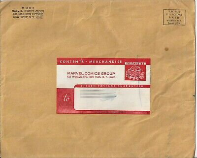 1967 Marvel Comics Merry Marching Society Mailing Envelope - Marvelmania!