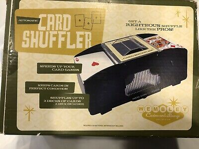 Wimbley Casino/Lounge Automatic Card Shuffler with sealed original deck of cards