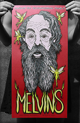 The MELVINS Phoenix CONCERT GIG TOUR POSTER SCREENPRINT - METALLIC RED Gumball