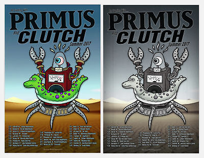 PRIMUS CLUTCH 2017 Official Ltd Ed Tour Gig Promo Poster Print Set GumBall Metal