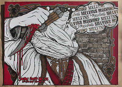 The MELVINS New York City 2015 CONCERT TOUR POSTER SCREEN PRINT Gumball Grunge