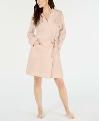 Charter Club Women's Long Sleeve Knit Terry Cloth Hooded Robe Size S MSRP $49