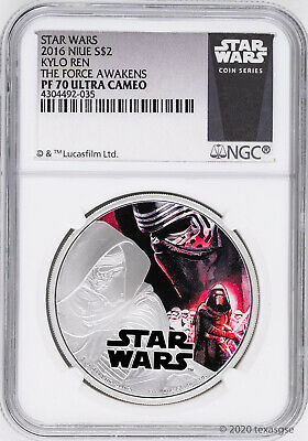 2016 Niue $2 Star Wars: The Force Awakens Kylo Ren Silver Coin NGC PF70 - White