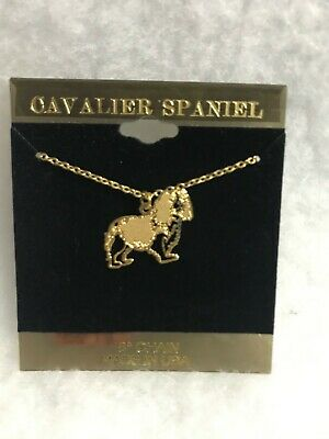 Cavalier Spaniel Gold Plated Necklace