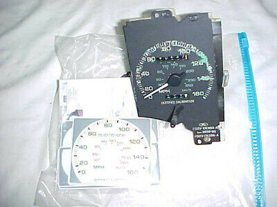 1990 - 1993 Mustang GT LX SSP 160 MPH Speedometer - White Face Kit - Motorsport