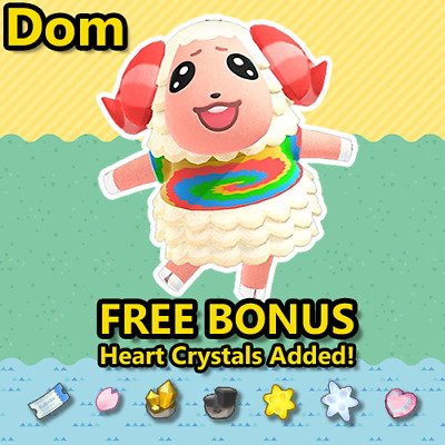 Animal Crossing New Horizons Villager: Dom
