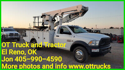 2014 Dodge 5500 4wd 55ft Work Height 2 man Bucket Truck Versalift VST-50-TN