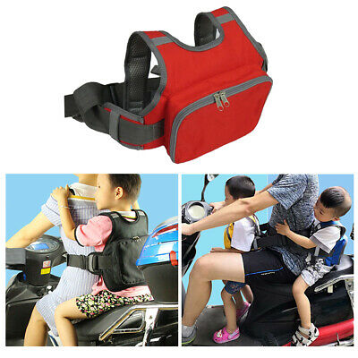 Bicycle One-piece Bike Safety Seat Strap Harness Drop Protection Red