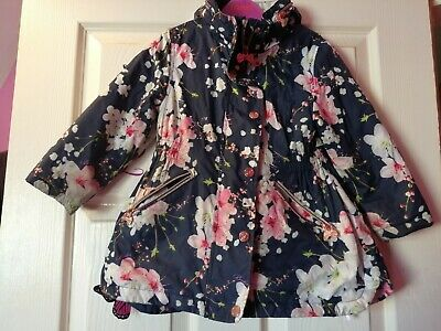Girls Ted Baker Jacket Age 3 - 4 Years Great Condition. Lightweight with hood