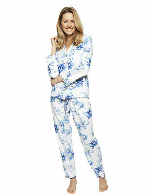 Cyberjammies 1316 Nora Rose Thea Blue Mix Floral Cotton Pyjama Set
