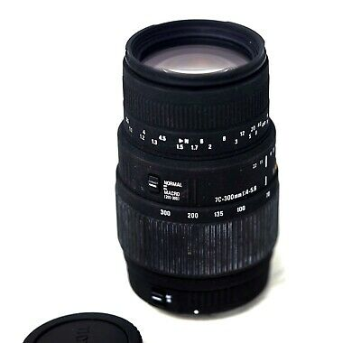 SIGMA 70-300mm DG AFs macro zoom lens for Canon EOS