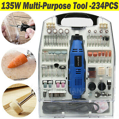 135W 234PCS Accessory Set Rotary Multi Tool Dremmel Drill Sand Grinder Polisher