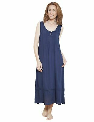 Cyberjammies 1216 Nora Rose Navy Blue Solid Colour Nightdress 8