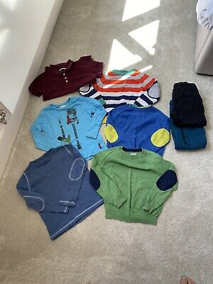 Mini Boden Ben Sherman Ebbe Jumper Polo Joggers 4-5 Boys Bundle