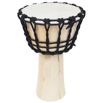 vidaXL Djembe Drum with Rope Tension 25cm Goat Skin Hand Percussion Bongo Dot#
