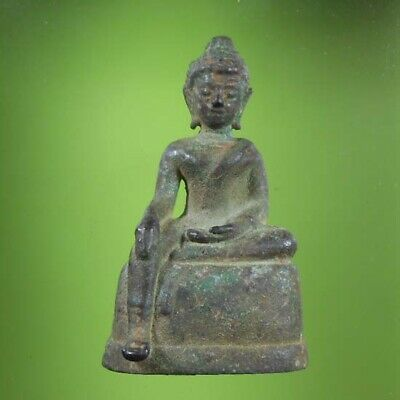 Perfect! Old Thai Buddha Amulet Sttue Phra Ayutthaya Over 500 Years