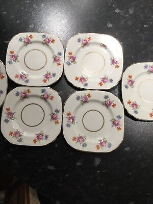 Ferneyhough Longton Hall Bone China Tea Plates