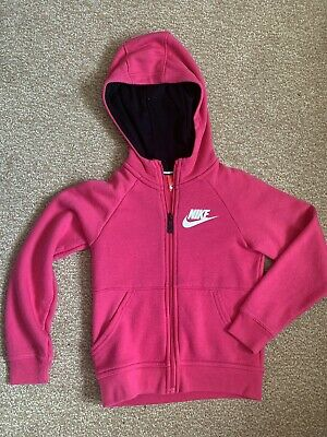 Girls Pink Nike Hooded Jacket Aged 6-7 Years