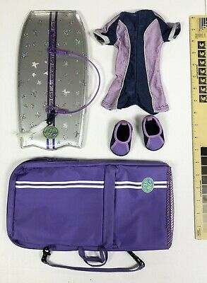 American Girl Doll Kailey Boogie Board BoogieBoard Purple Sparkle with outift
